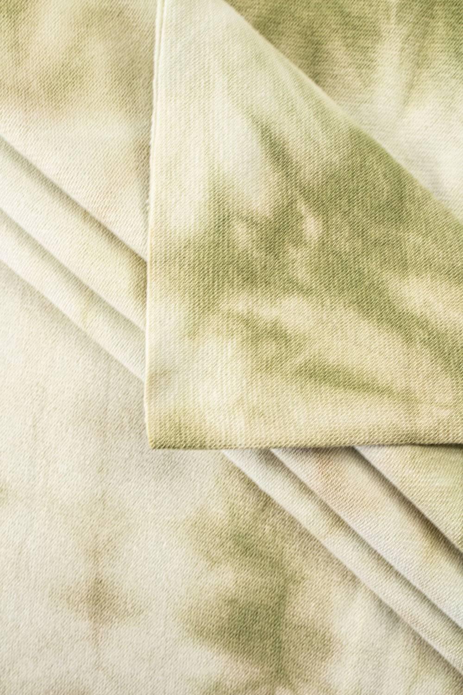 Ściągacz gładki batik oliwkowy - 90cm/180cm 220g/m2