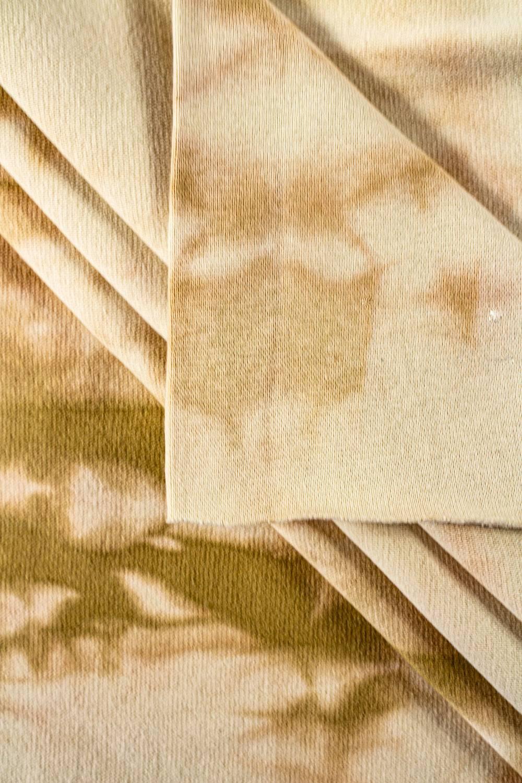 Ściągacz gładki batik beż - 90cm/180cm 220g/m2