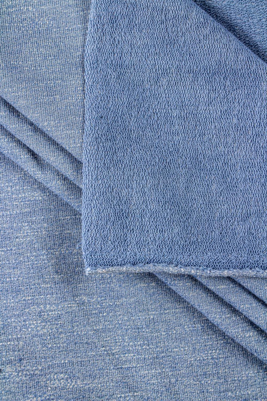Dzianina dresowa pętelka - błękitny melanż - 180cm 220g/m2