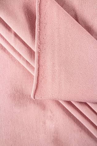 Dzianina dresowa pętelka - pudrowy róż - 180cm 270g/m2 thumbnail