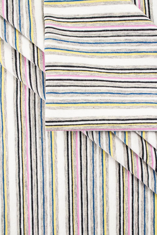 Dzianina jersey bawełna/elastan w paski - 160cm 180g/m2