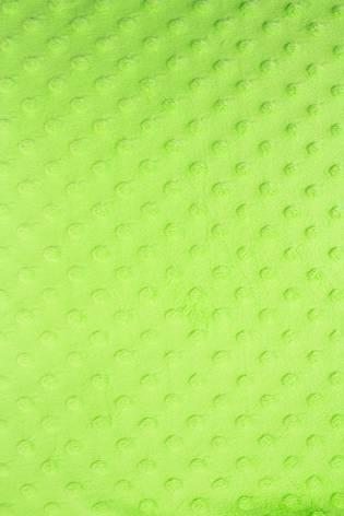 Dzianina minky bubble velboa z wypustkami - limonkowy - 150cm 380g/m2 thumbnail