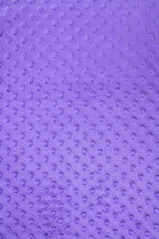Dzianina minky bubble velboa z wypustkami - fioletowy - 150cm 380g/m2 thumbnail