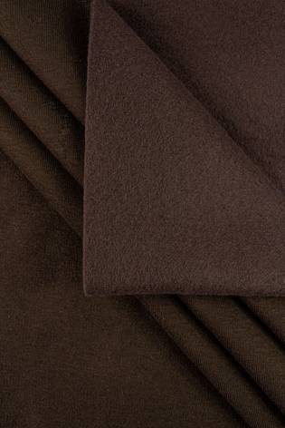 Dzianina dresowa drapana - czekoladowy - 170cm 410g/m2 thumbnail