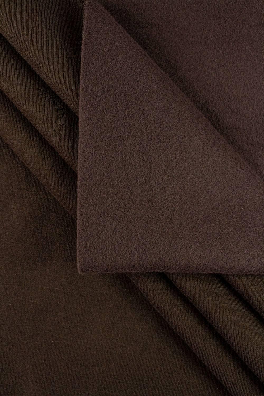 Dzianina dresowa drapana - czekoladowy - 170cm 410g/m2