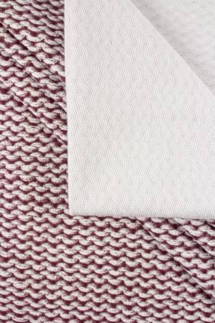 Dresówka pętelka biała w łańcuszki - 180cm 300g/m2 thumbnail