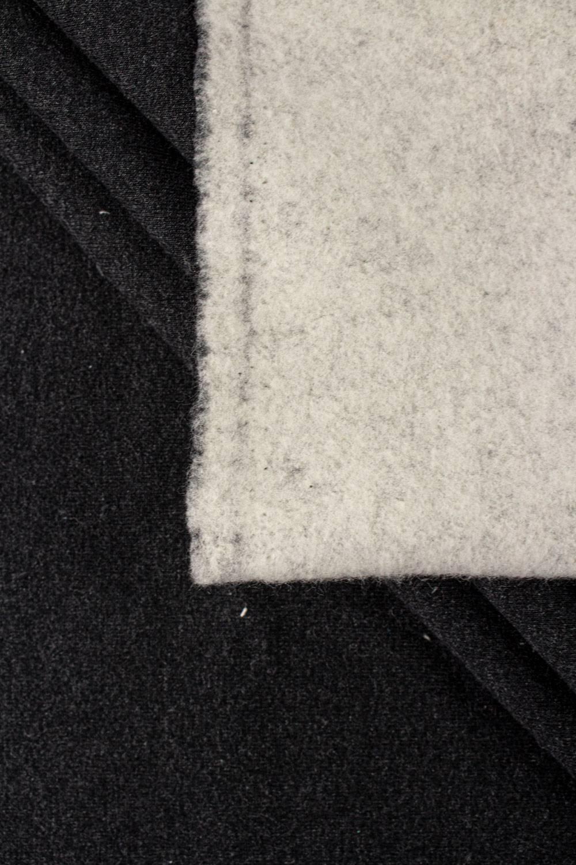 Dresówka drapana grafitowa z białym spodem - 190cm 400g/m2