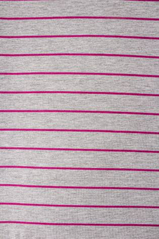 Dzianina jersey bawełniany w różowe paski - 180cm  200g/m2 thumbnail