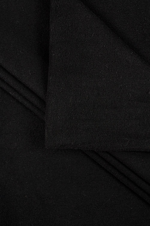 Dresówka pętelka skinpeach czarna - 170cm 360g/m2