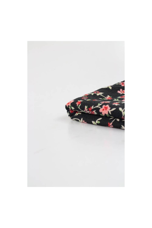 Dzianina poliestrowa szczotkowana/welurowa w delikatne kwiaty - 160cm 170g/m2