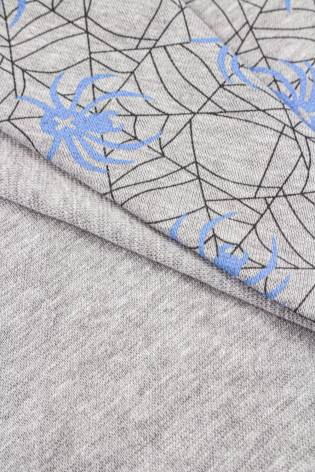 Dzianina punto z nadrukiem - pająki - 160cm 250g/m2 thumbnail