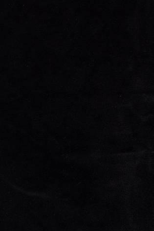 Dzianina welur czarny 180cm 270g/m2 thumbnail