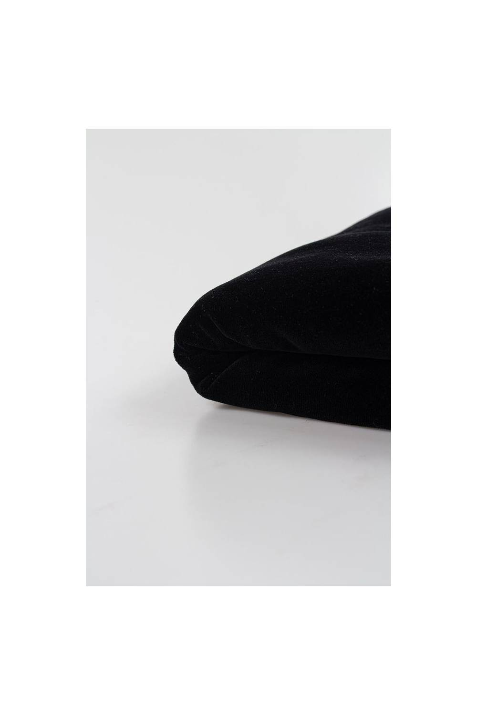 Dzianina welur czarny 180cm 270g/m2