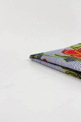 Tkanina bawełniana african wax w maki  - 110cm 110g/m2 thumbnail