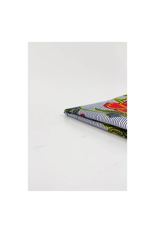 Tkanina bawełniana african wax w maki  - 110cm 110g/m2