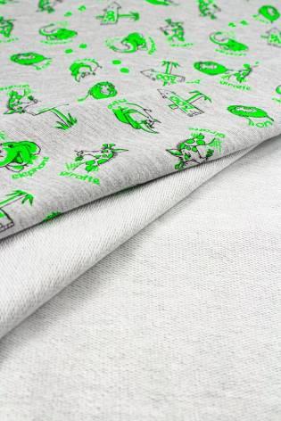 Dresówka pętelka szary melanż - zoo - 180cm 240g/m2 thumbnail
