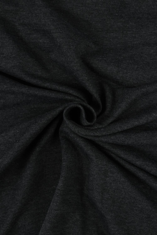 Dresówka pętelka ciemny szary melanż KUPON 1,5 MB - 180 cm - 220 g