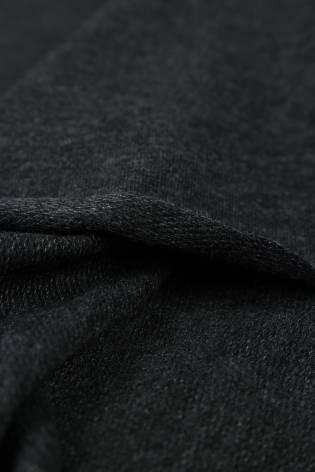 Dresówka pętelka ciemny szary melanż KUPON 1,5 MB - 180 cm - 220 g thumbnail