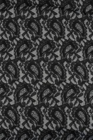Dzianina żakardowa szaro czarna KUPON 1,5 MB - 160 cm - 150 g thumbnail