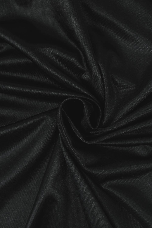 Dzianina satynowana czarna KUPON 1,5 MB - 160 cm - 170 g