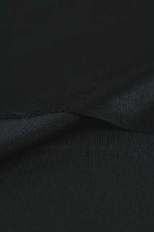 Dzianina satynowana czarna KUPON 1,5 MB - 160 cm - 170 g thumbnail