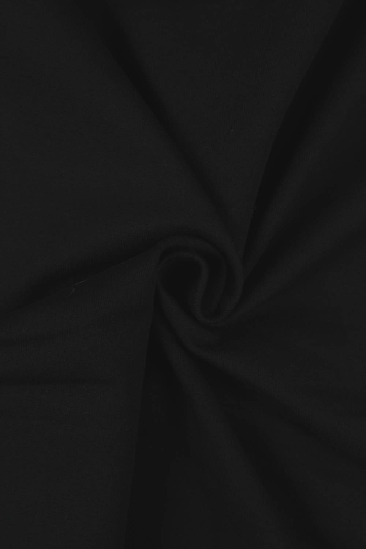 Dresówka pętelka czarna KUPON 1,5 MB - 185 cm - 280 g