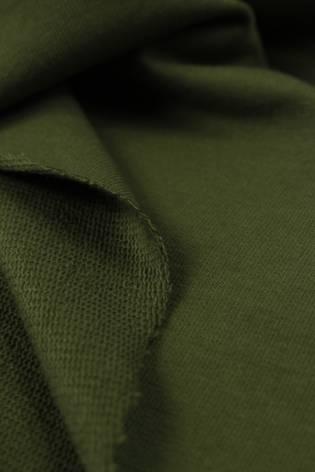 Dresówka pętelka khaki KUPON 1,5 MB - 180 cm - 290 g thumbnail
