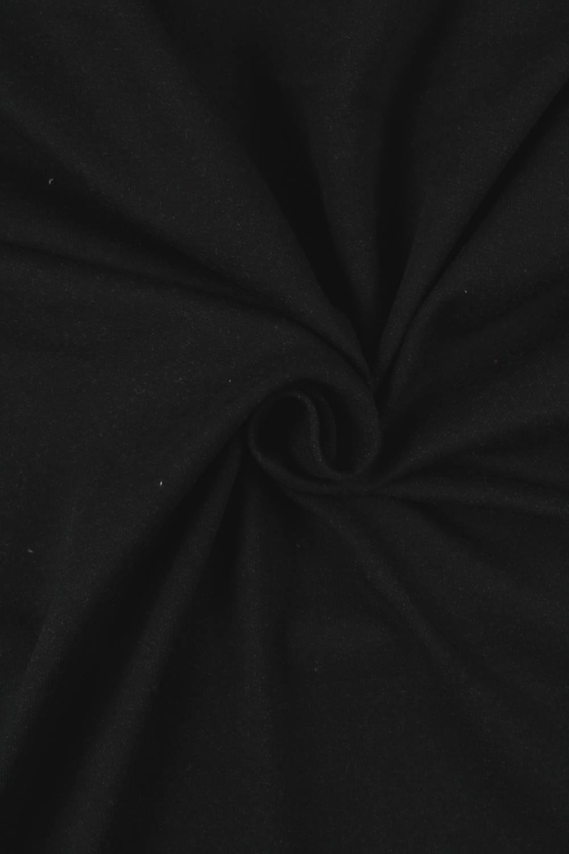 Dresówka pętelka czarna KUPON 1,5 MB - 170 cm - 250 g