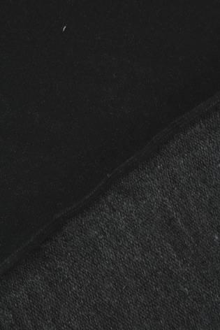 Dresówka pętelka czarna KUPON 1,5 MB - 170 cm - 250 g thumbnail