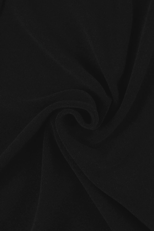 Dzianina frotte czarna KUPON 1,5 MB - 180 cm - 240 g