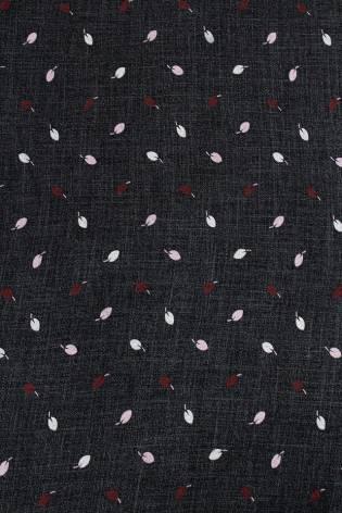 Dresówka drapana czarna w śliwki - 175cm 270g/m2 thumbnail