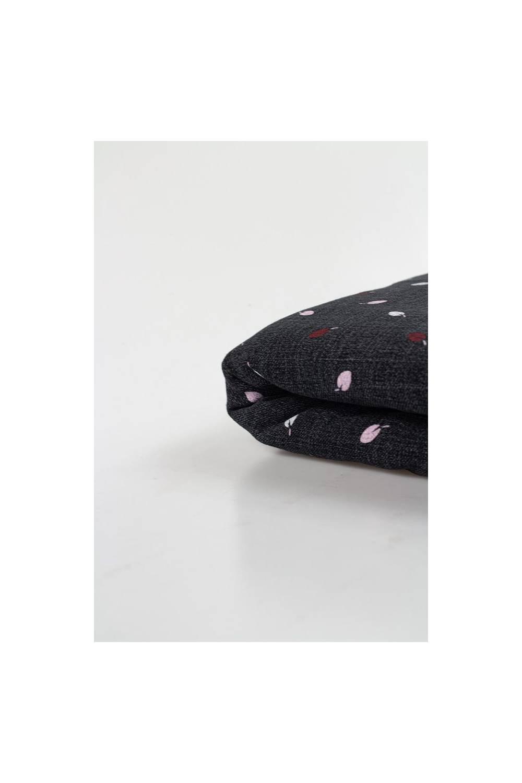 Dresówka drapana czarna w śliwki - 175cm 270g/m2