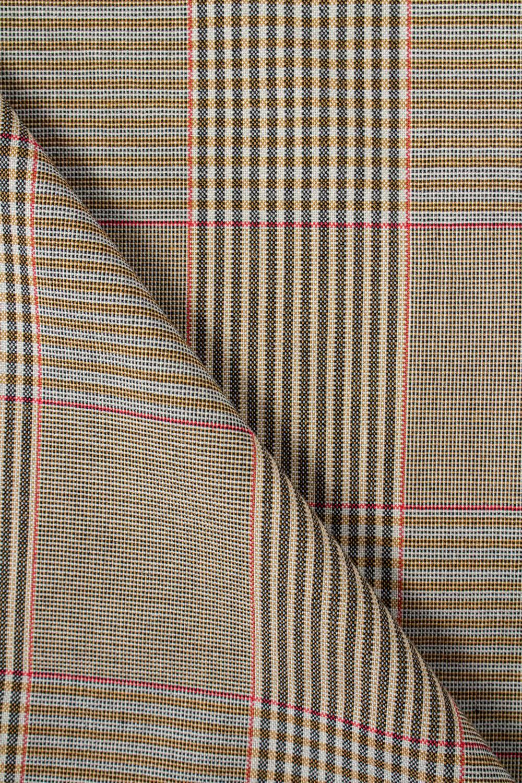 Tkanina cienka tweed w kratę - 150cm 210g/m2