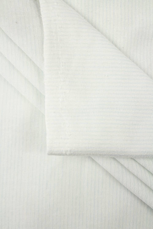 copy of Knit - Velour - White & Navy Blue Stripes - 180 cm - 260 g/m2