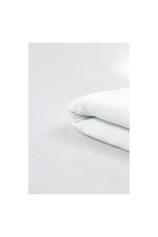 Dzianina welur biały w delikatne paski - 185cm 210g/m2