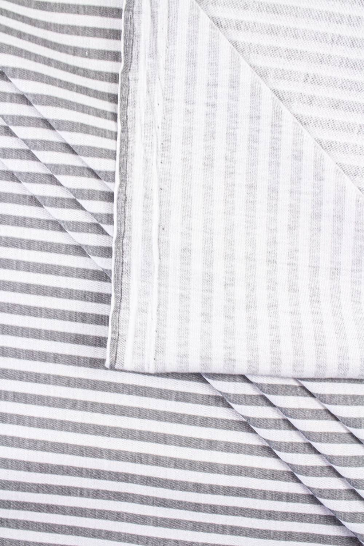 Dzianina jersey w szare paski - 170cm 150g/m2