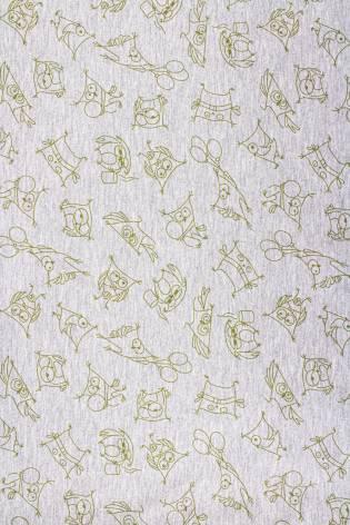 Dzianina dresowa pętelka w sówki - 180cm 250g/m2 thumbnail