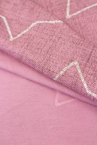 Dzianina jersey różowy w gwiazdy - 170cm 130g/m2 thumbnail