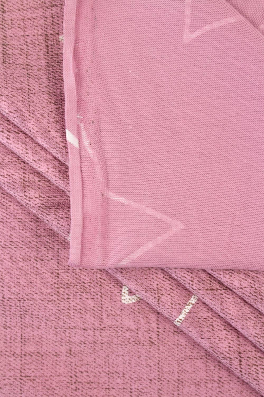Dzianina jersey różowy w gwiazdy - 170cm 130g/m2