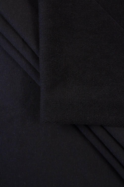 Dresówka pętelka czarny GOTS - 185cm 290g/m2