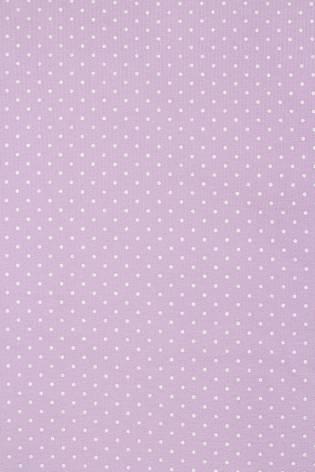 Dzianina dresowa pętelka lawendowa w grochy - 190cm 240g/m2 thumbnail
