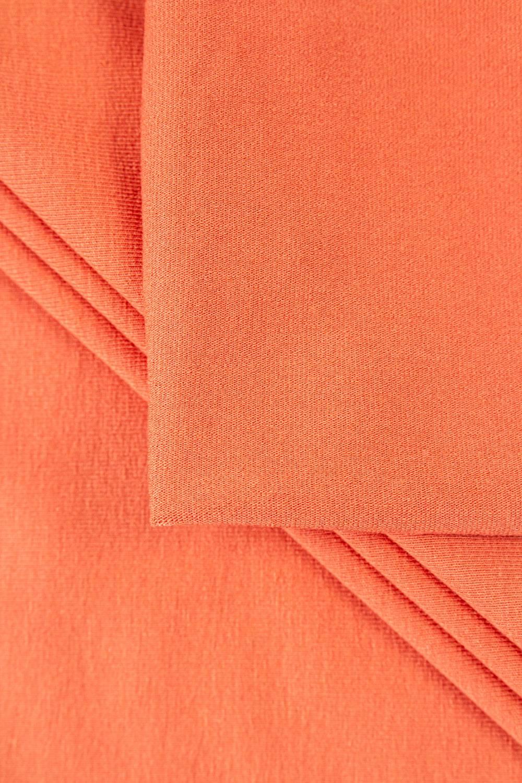 Dzianina jersey wiskozowy - koralowy - 155cm 300g/m2