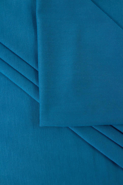 Dzianina jersey wiskozowy milano - morski - 170cm 180g/m2