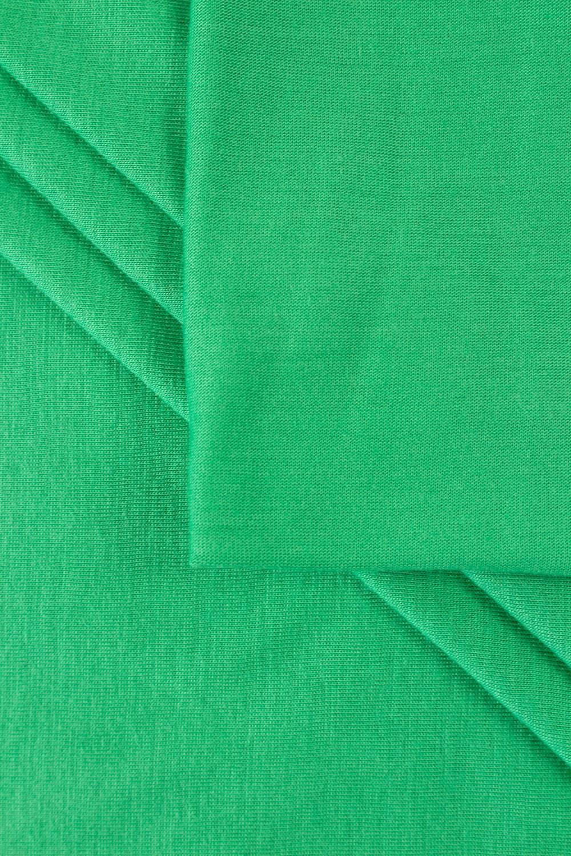 Dzianina jersey wiskozowy casablanca - zielony - 150cm 150g/m2