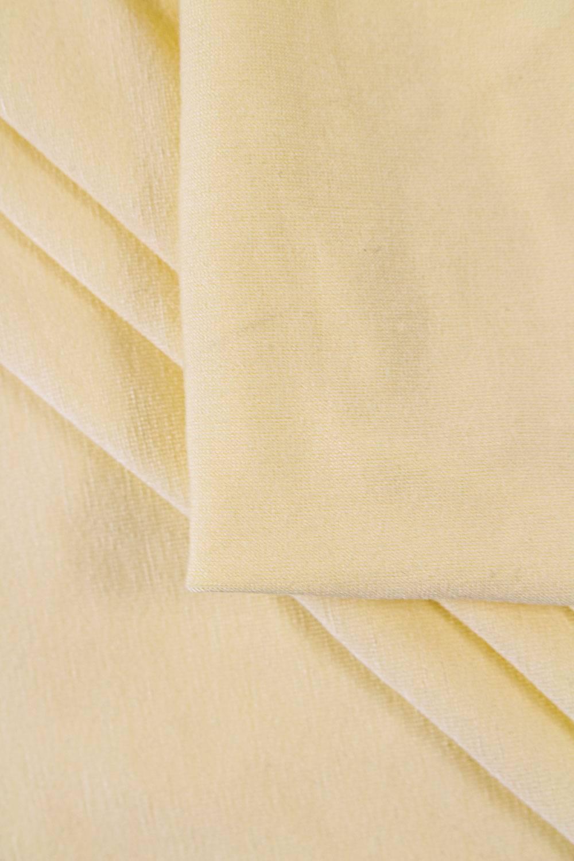 Dzianina jersey wiskozowy - pudrowy żółty -  160cm 220g/m2
