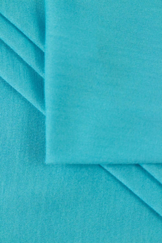 Dzianina jersey wiskozowy casablanca - turkusowy - 150cm 150g/m2