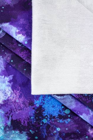 Dzianina dresowa pętelka nadrukiem obłoczki/abstrakcja - 180cm 240g/m2 thumbnail