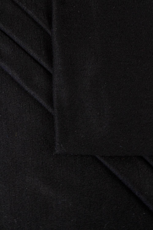 Dzianina jersey wiskozowy casablanca - czarny - 150cm 150g/m2