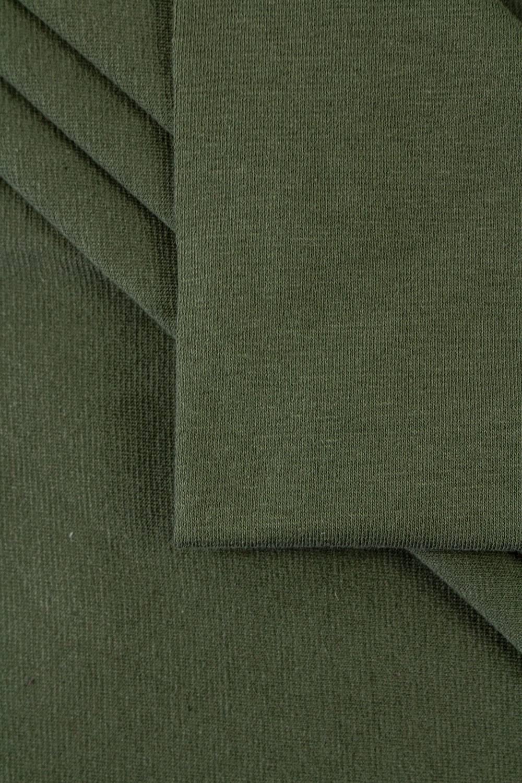 Dzianina jersey dwułożyskowy - khaki -  85cm/170cm 200g/m2