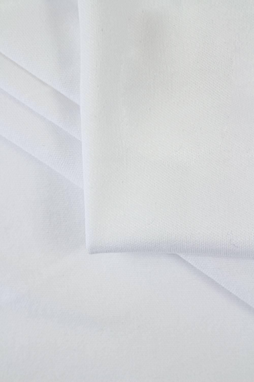Dzianina interlock bawełniany delikatny biały 160cm 140g/m2